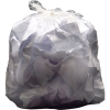 2Work Light Duty 140g clear refuse sack, pack of 200 KF73377  246062