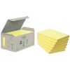 3M Post-it Notes (recycled) Mini Tower Yellow 6-pack (76mm x 127mm)