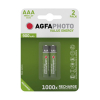AgfaPhoto Rechargeable AAA micro battery 2-pack 131-802824 290022
