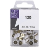 Alco white thumbtacks, pack of 120