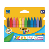 Bic Kids Plastidecor Triangle Crayons Assorted (Pack of 12) 829773  224652