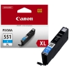 Canon CLI-551C XL high capacity cyan ink cartridge (original Canon) 6444B001 018792