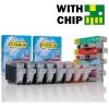 Canon CLI-8 series chipped 16-pack (123ink version)  120863