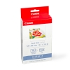 Canon KC-18IF ink cartridge + credit-card-format stickers (original)
