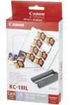 Canon KC-18IL ink cartridge + mini stickers (original) 7740A001AA 018020