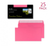 Creative Colour Envelopes DL+ Flamingo Pink Pk. of 25   25202