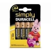 Duracell AA battery 4-pack (LR6/MN1500/DU00224) DU00224 204514