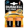Duracell Plus 9V battery 2-pack (SLR61/MN1504/DU01928) DU01928 204530