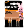 Duracell Plus Power AAA battery 4-pack (LR03/MN2400)
