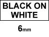 Dymo 1805442 IND Rhino 6mm permanent polyester tape, black on white (123ink version)