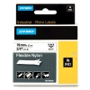 Dymo 18489 IND Rhino 19mm flexible nylon tape, black on white (original)
