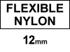 Dymo S0718040 / 16957 12mm flexible nylon tape (123ink version)