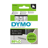 Dymo S0720500 / 45010 12mm tape, black on transparent (original Dymo)