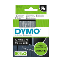 Dymo S0720600 / 45020 12mm tape, white on transparent (original Dymo) S0720600 088220
