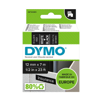 Dymo S0720610 / 45021 12mm tape, white on black (original Dymo) S0720610 088222