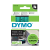Dymo S0720740 / 40919 9mm tape, black on green (original Dymo)