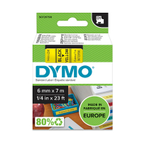 Dymo S0720790 / 43618 6mm tape, black on yellow (original) S0720790 088004