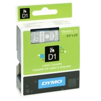 Dymo S0720900 / 45810 19mm tape, white on transparent (original) S0720900 088416