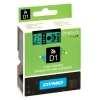 Dymo S0720990 / 53719 24mm tape, black on green (original) S0720990 088434