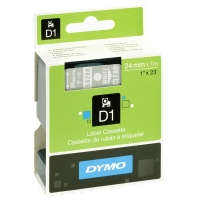 Dymo S0721000 / 53720 24mm tape, white on transparent (original) S0721000 088436