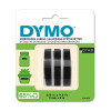 Dymo S0847730 9mm embossing tape, white on black 3-pack (original)