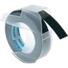 Dymo S0898130 9mm embossing tape, white on black (original)