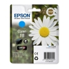 Epson 18 (T1802) cyan ink cartridge (original Epson) C13T18024010 C13T18024012 026470