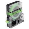 Epson LC-4GBF9 black on fluorescent green tape, 12mm (original)