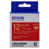 Epson LK 4RKK gold on red satin ribbon tape, 12mm (original)