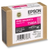 Epson T580A vivid magenta ink cartridge (original) C13T580A00 025912
