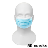 Face mask, CE-marked, 3-ply, 50-pack