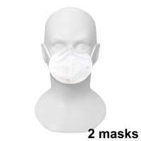 Face mask, CE-marked, FFP2 / KN95, 2-pack  299108