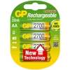 GP 2600 rechargeable AA LR6 battery 4-pack