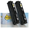 HP 125A (CB540AD) black toner 2-pack (123ink version) CB540ADC 054117