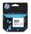 HP 302 (F6U65AE) colour ink cartridge (original HP) F6U65AE 044450