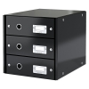 Leitz 6048 black, 3 drawers