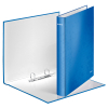 Leitz WOW 4241 laminated ring binder with 2 D-rings, metallic blue