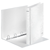 Leitz WOW 4242 metallic white laminated 4-ring binder