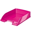 Leitz WOW 5226 metallic pink letter tray (5 pack)