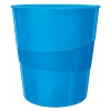 Leitz WOW 5278 metallic blue wastepaper bin