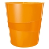Leitz WOW 5278 metallic orange wastepaper bin