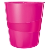 Leitz WOW 5278 metallic pink wastepaper bin 52781023 211440