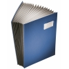 Leitz book file with 20 compartments A4 blue