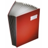 Leitz book file with 20 compartments A4 red 57000025 202866