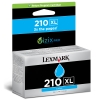 Lexmark 14L0175E (#210XL) high capacity cyan ink cartridge (original) 14L0175E 040610