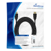 MediaRange connection cable, 10.2 gbit/s, 5.0m, cotton, black MRCS211 361048