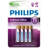 Philips Lithium Ultra FR03 Micro AAA battery 4-pack