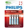Philips Power Alkaline LR03 Micro AAA battery 4-pack