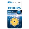 Philips ZA10 (PR70) yellow hearing aid battery 6-pack ZA10B6A/10 098331