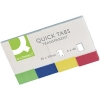 Q-Connect KF01225 transparent Quick Tabs, pack of 4 x 50